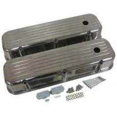 Chevy Big Block Valve Covers, Ball Milled Polished Aluminum, 1965-1995
