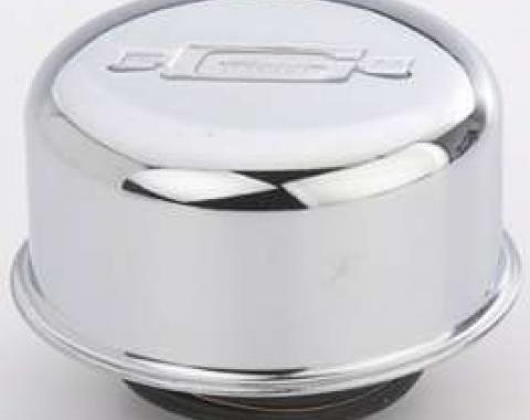 Chevy Oil Breather Cap, 6-Cylinder, Chrome 1955-1957
