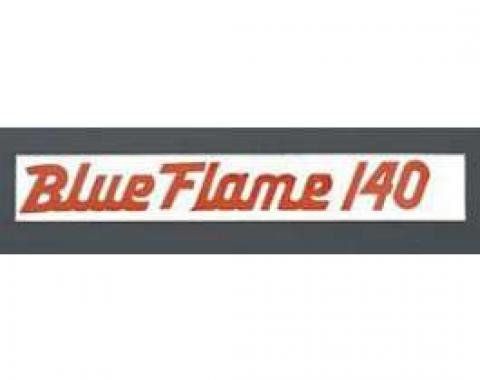 Chevy Valve Cover Decal, 6-Cylinder, Blue Flame 140, 1956-1957