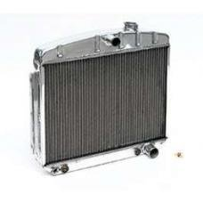 Chevy Radiator, Polished Aluminum, V8 Position, Griffin ProSeries, 1955-1957