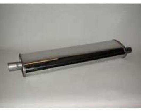 Chevy Muffler, Stainless Steel, Long, 29, 1955-1957