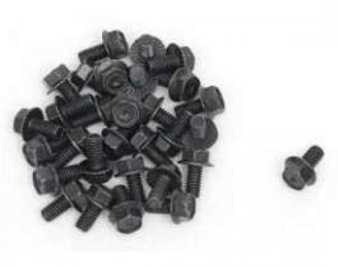 Chevy Engine Compartment Bolts, Black Oxide, 5/16, 1955-1957