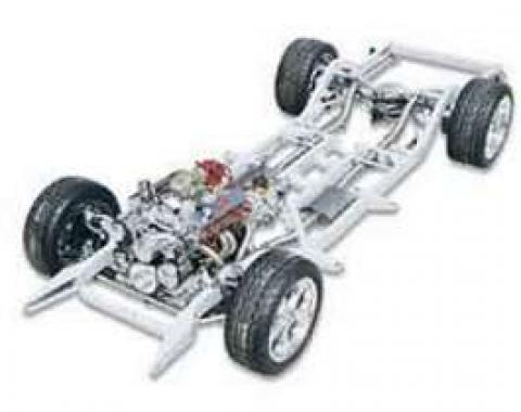 Chevy Upgrade Bare Chassis, 2 & 4-Door Wagon, Nomad, Art Morrison, 1955-1956