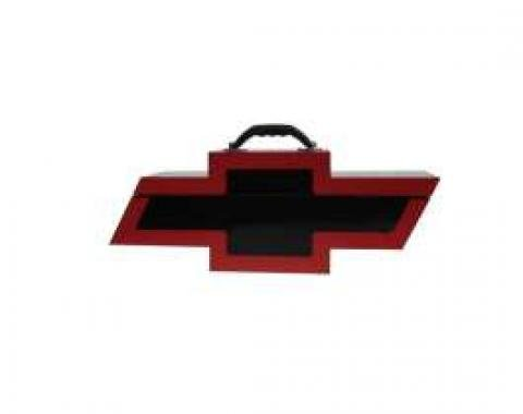 Chevy Bowtie Shaped Portable Tool Box, Black & Red