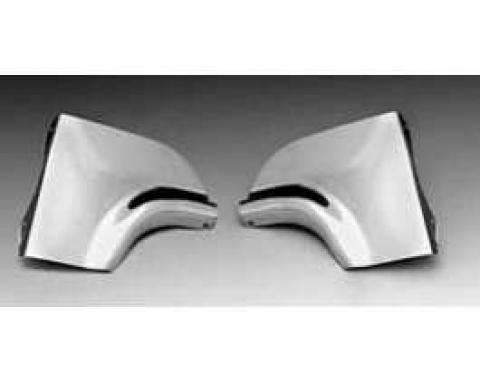 Chevy Fender Skirt Scuff Guards, Stainless Steel, 1955