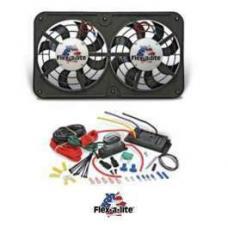 Chevy Fan Kit, Dual Electric, Flex-A-Lite, 12, 500CFM