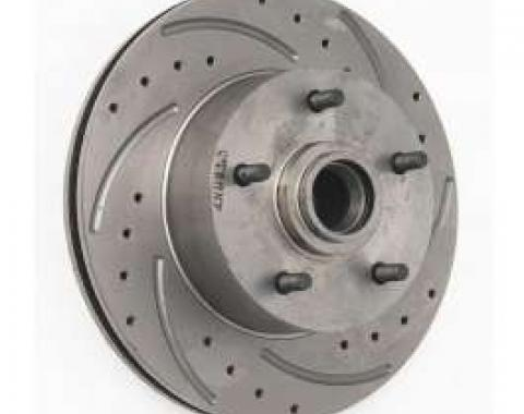 Chevy Front Disc Brake Rotor, Drilled, Slotted & Vented, Right, 1955-1957