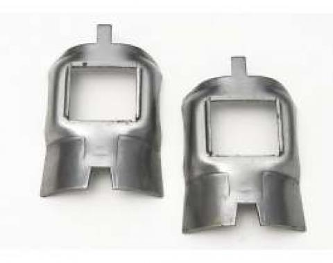 Chevy Axle Bumper Retainers, Rear, 1955-1957
