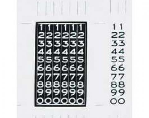Chevy Odometer Restoration Decals, 1956-1957