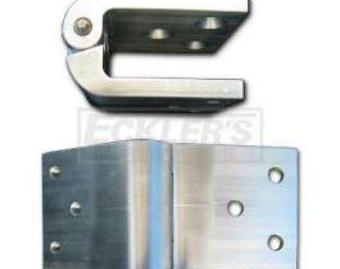 Chevy Tailgate Hinges, Billet Aluminum, For Wagon, 1955-1957