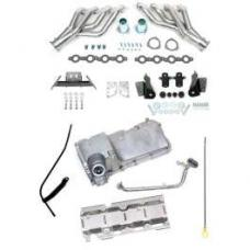 Chevy LS1, LS2, LS3 & LS6 Engine Installation Kit, With Ceramic Coated Headers, Use With Turbo Hydra-Matic 700R4 (TH700R4) Transmission, Con