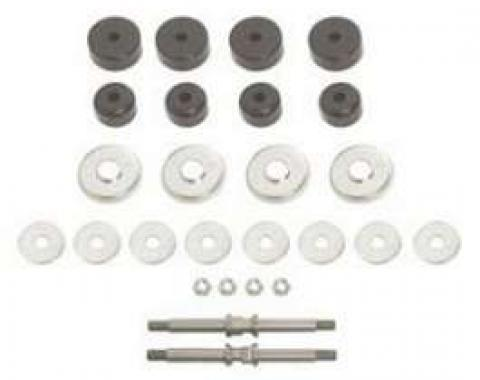 Chevy Front Mounting Kit, With Black Poly Grommets, V8, 1955-1957