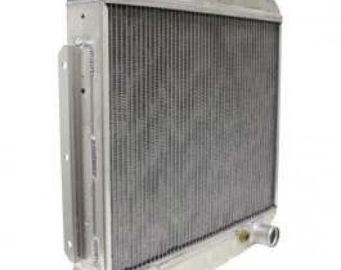 Chevy Aluminum Radiator, V8 Position, 1955-1957