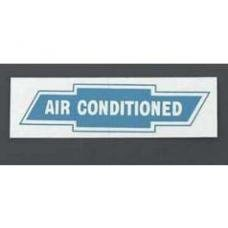 Chevy Factory Air Conditioning Window Decal, 1955-1957