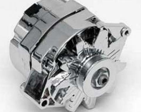 Chevy Alternator, 70 Amp 1-Wire Alternator, Chrome, 1955-1957
