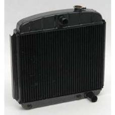 Chevy Desert Cooler Optima Radiator, Copper Core, V8, For Cars With Automatic Transmission, U.S. Radiator, 1955-1957