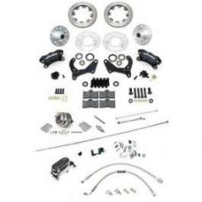 Chevy Disc Brake Kit, Wilwood, Power, Front, With Chrome Booster & Master Cylinder, Complete, 1955