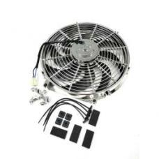 Chevy Electric Cooling Fan,Chrome, Reversible, 14, 1955-1957