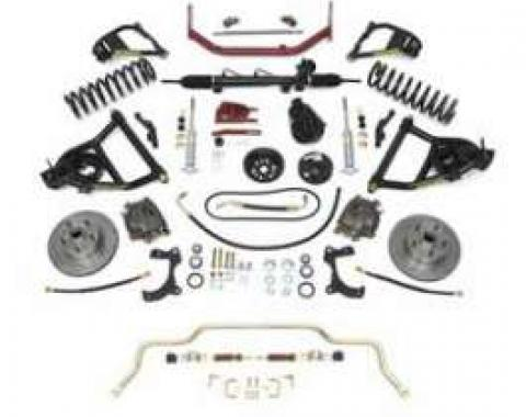 Chevy Complete Independent Front Suspension Kit, Small Block, With 2 Lowering Coil Springs, 1955-1957