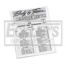 Chevy Manual, Fisher Service News, Number 1 Volume 14-1, 1955