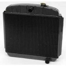 Chevy Desert Cooler Optima Radiator, Copper Core, For Cars With Manual Transmission, V8, U.S. Radiator, 1955-1957
