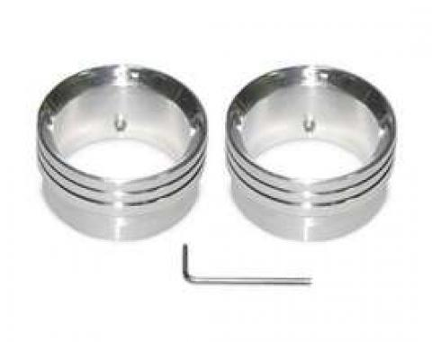 Chevy Exhaust Tips, Billet Aluminum, Beveled, 2, Polished,1955-1957