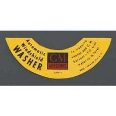 Chevy Windshield Washer Jar Decal, Automatic, 1955-1957