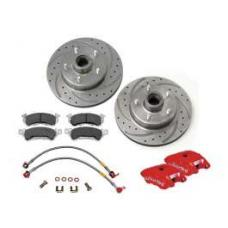 Chevy Disc Brake Upgrade, Wilwood, Front, For Dropped Spindles, 1955-1957