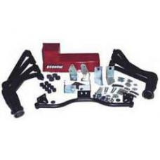 Chevy Engine Installation Kit, Big Block, Deluxe, Mark V & VI, TH350, 700R4 Automatic Transmission, With Black Painted Headers, 1955-1957