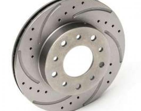 Chevy Rear Disc Brake Rotor, Left, Drilled & Slotted, 1955-1957