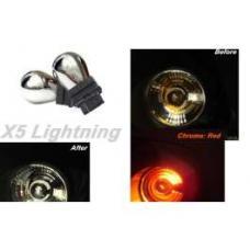 Light Bulbs, 3157, Chrome X5 Lightning Red Silver Stealth