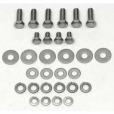 Chevy Hood Hinge Bolt & Washer Set, Stainless Steel, 1957