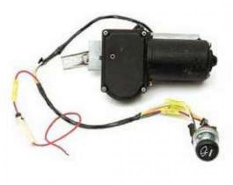 Chevy Electric Wiper Motor, Replacement, With Delay Switch, 1955-1956