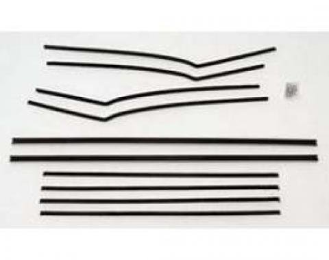 Chevy Window Felt Kit, 2-Door Hardtop, Bel Air, 1955-1957