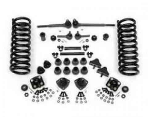 Chevy Front End Rebuild Kit, With Original Power Steering &2 Lowering Springs, 1955-1957