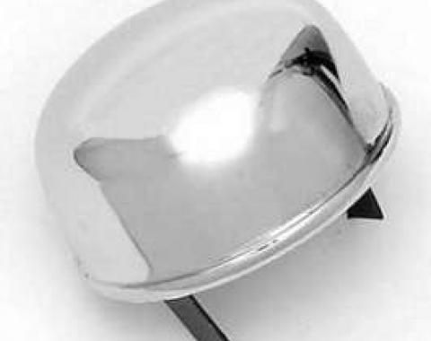 Chevy Oil Breather Cap, Push-In, Chrome