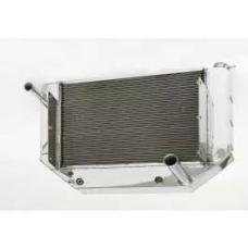 Chevy Cross-Flow Radiator, Polished Aluminum, LT1, Griffin,1955-1957