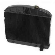Chevy Radiator, Copper Core, 6-Cylinder, For Cars With Automatic Transmission, U.S. Radiator, 1955-1956