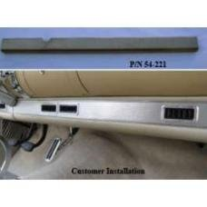 Chevy Dash Extension, Lower, For Aftermarket Air Conditioning, 1955-1957