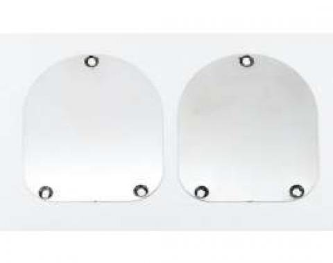 Chevy Shock Covers, Stainless Steel, Nomad, Wagon, 1955-1957
