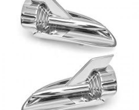 Chevy Hood Rockets, Chrome, Best, 1957
