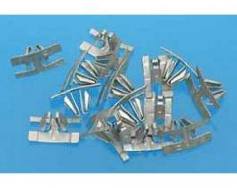 Chevy Beltline Clips, Stainless Steel, Upper Quarter Window, 2 & 4-Door Sedan, Bel Air, 1955-1957