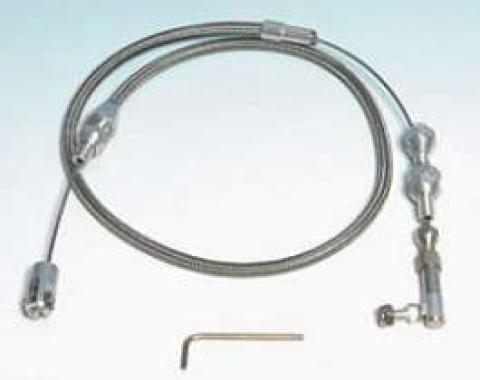 Chevy Throttle Cable, With Carburetor, Lokar, 1955-1957