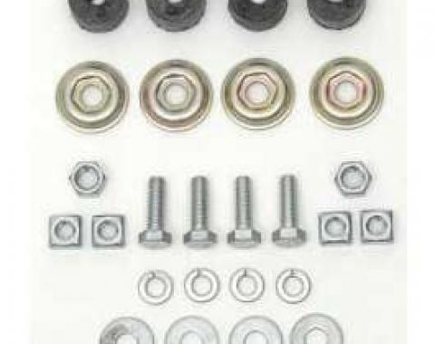 Chevy Shock Installation Hardware Kit, Front, 1955-1957