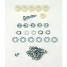 Chevy Heater Box Screws, Washers & Fasteners, Deluxe, 1955-1956