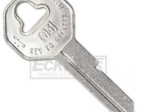 Chevy Key Blank, For Ignition & Door Locks, 1955-1957