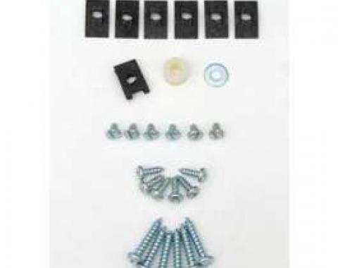 Chevy Heater Box Screws, Clips & Fasteners, Deluxe, 1957