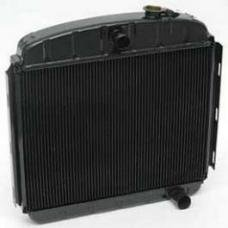 Chevy Desert Cooler Optima Radiator, Copper Core, 6-Cylinder, For Cars With Manual Transmission, U.S. Radiator, 1955-1956