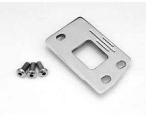 Chevy Hood Latch Plate, Extra Clearance, Polished Billet Aluminum, 1955-1957