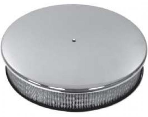 Chevy Air Cleaner, Round Smooth Polished Aluminum, 14 X 3